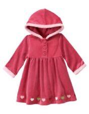 NWT Gymboree Baby Toddler Girl Gingerbread Girl Pink Heart Velour Hooded Dress