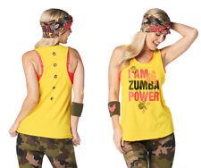 Zumba Power Tank Top -  Sunrays Yellow - New!  Free Shipping!