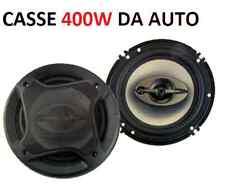 Coppia casse altoparlanti diffusori 400 Watt.Per auto,suono in HD,16cm, potenti!