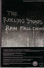 "ROLLING STONES ""Rain Fall Down"" 6 Track Promo CD Cardsleeve"