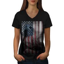 American Eagle Glory Women V-Neck T-shirt NEW | Wellcoda