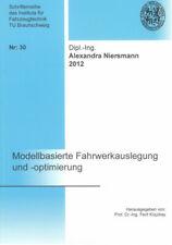 Modellbasierte Fahrwerkauslegung und -optimierung Alexandra Niersmann