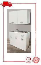 Mini cucina Monoblocco 120 cm completa di Piano cottura lavello - Reversibile