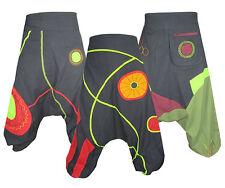 Mens Cotton Hippie Patch Light Drop Crotch Harem Trousers Casual Lounge Pants