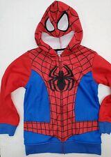 Marvel Spider-Man Half Mask Zip-Up Sweater Costume Hoodie Kids