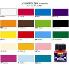 (100ml=13,45€) Javana Tex Opak Stoffmalfarbe Textilfarbe helle & dunkle Stoffe