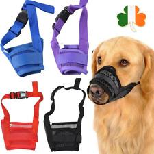 Dog Mask Anti Bark Muzzle Stop Bite Barking Chewing Mesh Mask Training S - XXL