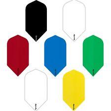 Poly Plain Slim Dart Flights 1-10 Sets Solid Colours DSP