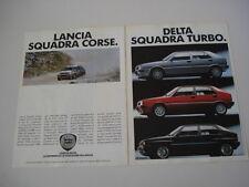 advertising Pubblicità 1989 LANCIA DELTA HF/TURBO DS