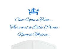 Érase una vez Prince Matteo pegatinas de pared calcomanía bed room Vivero Arte boy/baby