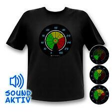 Party Equalizer LED Shirt Musik aktiviert Auto Fun Shirt Party Leuchtet !