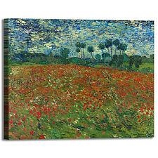 Van Gogh campo di papaveri design quadro stampa tela dipinto telaio arredo casa