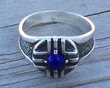 MEDICINE WHEEL Ring .925 Sterling Silver w/ Genuine Lapis Lazuli FATHER SUN ring