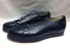 Giorgio Armani Womens Lace Up Sneakers X1C104 38 Blue  New w/ Box