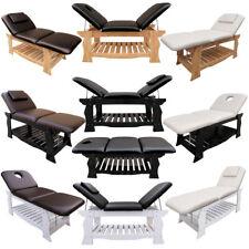 Massageliege Massagebank 3-Zonen stationäre Kosmetikliege Massivholz verstellbar