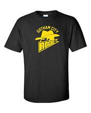 Gotham City Rogues Football Batman Dark Knight Rises GOLD PRINT Men's Tee Shirt