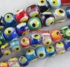 Handmade Glass Mixed Round Bead Spacers 25pcs 8mm/35pcs 6mm P5 P6