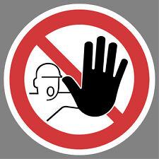 Zutritt verboten Aufkleber Sticker Hinweis Verbotsschild