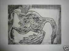 Zendel Gabriel gravure originale signée le canard chasse cuisine colvert gibier