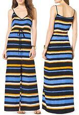 Michael Kors Vintage Yellow/Oxford Blue Stripe Camisole Maxi Dress, $130