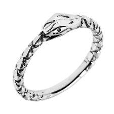 Sterling Silver Ouroboros Uroboros  Snake Thumb Ring