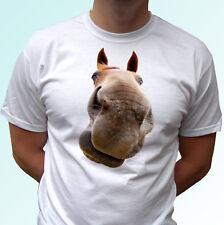 Horse head white t shirt animal tee top design - mens womens kids baby