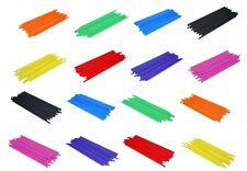 """4.5"""" (114mm) Coloured Plastic Lollipop Sticks - 8 Colours - Sweets - Crafts"""