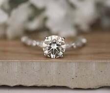 Bestseller 1.50 Ct Round Diamond Engagement Silver Ring VVS1/D