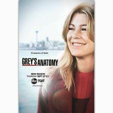 250504 Hot Grey's Anatomy 2018 TV Series Hot Season 15 WALL PRINT POSTER FR