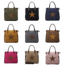 DAMEN XXL STERN TASCHE A4 Shopper HAND- SCHULTERTASCHE BLOGGER STAR BAG Modern