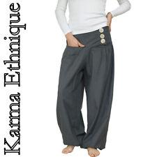 Pantalon Népal (du 36 au 60) grande taille femme homme sarouel PA05 Gris