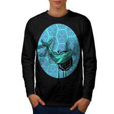 Whale Fish Cute Animal Men Long Sleeve T-shirt NEW   Wellcoda