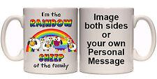 I'M THE RAINBOW SHEEP MUG & COASTER LGBT GAY LESBIAN (HU13) 11oz & 15oz GIFT