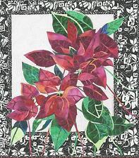 Poinsettia applique quilt pattern by Brenda Yirsa Bigfork Bay Cotton Co
