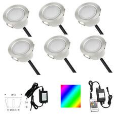 6 x RGBW 12V LED Bodeneinbauleuchte Einbaustrahler Terrasse Garten Spot Lampe