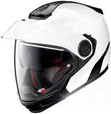 NOLAN N40-5 GT CLASSIC N-COM   Motorcycle Motorbike Helmet METAL WHITE