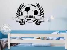 Personalised Football Wall Sticker, Boys Girls Bedroom Playroom Decor Decal