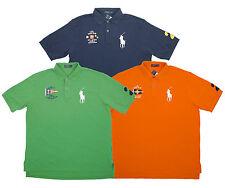 Polo Ralph Lauren Maine Beach Yacht Club Mesh Shirt Navy Green Orange Pony AS