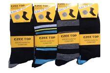 MENS REAL COMFORT EASY GRIP 100% Non Elastic Socks Soft Grip Diabetic Adults Lot