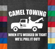 CAMEL TOWING T-Shirt Funny College Humor Joke Sexy Toe Truck -100% Ringspun Tee
