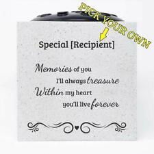Handmade Treasured Memories Memorial Graveside Flower Rose Bowl Vase Pot