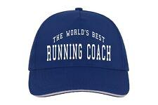 World's Best Running Coach Baseball Hat Cap Gift Sport Run Athlete Sprinter