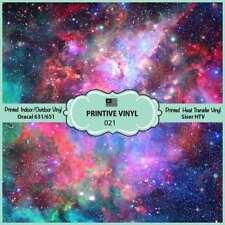 Galaxy Nebula Printed HTV, Adhesive Vinyl,Siser HTV, Oracal Vinyl- 021