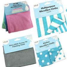 MultiPurpose Microfibre Cleaning Cloth Reusable Dust Scou Wipe Kitchen Bathroom