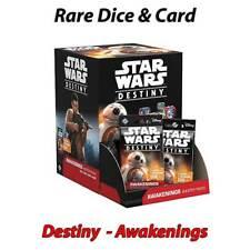 StarWars Destiny - Awakenings - Rare Single Card & Dice - Free Postage