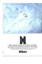 PUBLICITE  1990  NIKON  jumelles accessoires photo