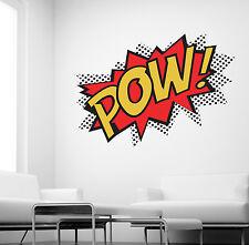 POW WALL STICKER SUPERHERO KIDS COMIC ART DECALS K27