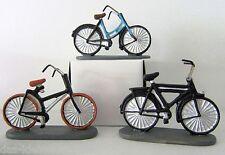 Miniatur Fahrrad L: 6,5cm  blau braun schwarz Geldgeschenk basteln Modell klein