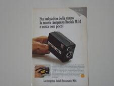 advertising Pubblicità 1968 CINEPRESA KODAK INSTAMATIC SUPER 8 M14 M 14