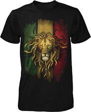 Rasta Lion, Rastafarian Lion, Lion Dreds Mens T-shirt